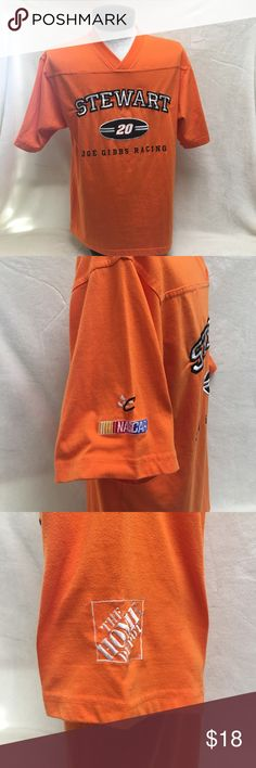 f4b794ee6175 Vintage Tony Steward Orange Home Depot T-shirt Tony Stewart orange Home  Depot T-