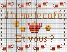 Cuisine - kitchen - café - point de croix - cross stitch - Blog : http://broderiemimie44.canalblog.com