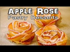 How to make a rose shaped apple pastry. This simple recipe is really easy to make and looks fantastic. You only need a few ingredients, and it doesn't take l. How to make a rose shaped apple pastry. This simple recipe is really eas Cocoa Recipes, Snack Recipes, Dessert Recipes, Cooking Recipes, Apple Rose Pastry, Apple Roses, Mini Desserts, Easy Desserts, Baked Apples