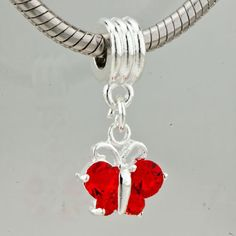 Pugster+Silver+Plated+Red+Crystal+Butterfly+by+DelightfulDaisyness,+$5.99