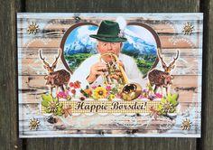 Postkarte für bayrische Geburtstagsgrüße