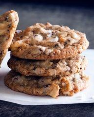 Salted Chocolate Chip Cookies - Yummm!  nice