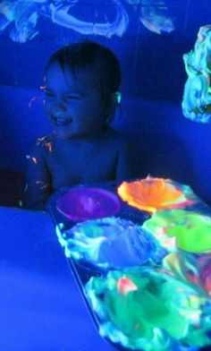 Glowing Homemade Bath Paint from Growing a Jeweled Rose