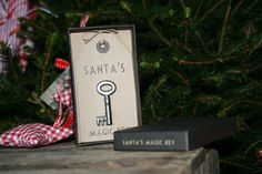 A Vintage Style Santa Key Truly Magical !    A vintage style Santas magic key ! The key comes on a lovely vintage style tag inside a black box. See the delight on your childrens face when you show them this key. Give them memories that will stay with them forever. Make this Christmas magical !!  ...
