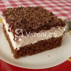 Zákusek se zakysanou smetanou - My site Torte Recepti, Sweet Cooking, Vanilla Cake, Sweet Recipes, Tiramisu, Sweet Tooth, Cheesecake, Food And Drink, Chocolate