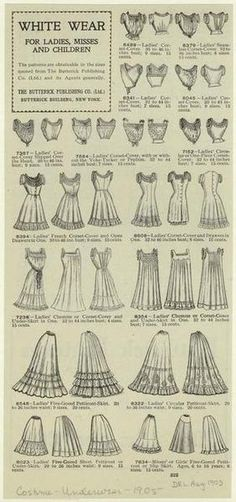 1905 white wear for women and children