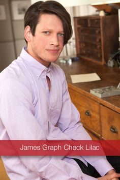 J Wingfield: James Graph Check Lilac   We made this handsome graph check in 2 color choices. Light Blue & Lilac. This classically woven James Graph Check Lilac Button Down is soft, rugged and looks great with khakis or jeans.