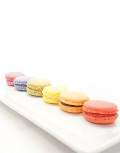 Rainbow of Macarons #macarons www.nikkolettesmacarons.com