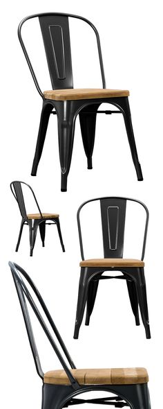 The highly durable Bistro Dining Chair is made from welded steel with a seat made of luxuriously rustic unfinished teak wood. Equally great for all workplace environments and around the breakfast table...  Find the Bistro Dining Chair - Set of 2, as seen in the Industrial Chic Collection at http://dotandbo.com/collections/industrial-chic?utm_source=pinterest&utm_medium=organic&db_sku=DBI1201-RUS-SET2