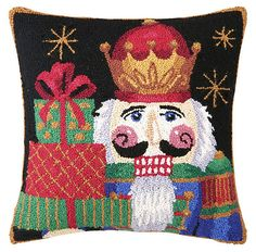 Nutcracker 17x17 Pillow, Multi | 'Tis the Season | One Kings Lane