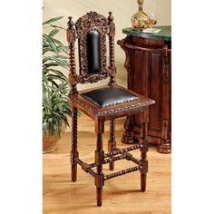 Charles II Gothic Barstool-Set of Two