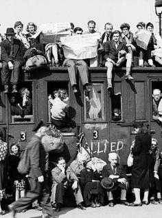 Germans leave post-war Berlin, 1945. Margaret...