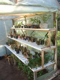 Home garden greenhouse 22 Super ideas Diy Small Greenhouse, Greenhouse Shelves, Garden Shelves, Greenhouse Interiors, Backyard Greenhouse, Greenhouse Plans, Orchid House, California Garden, Home Vegetable Garden