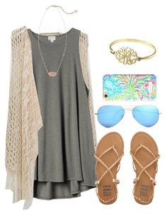 """Day 2"" by christyaphan ❤ liked on Polyvore featuring Daytrip, H&M, Alison & Ivy, Kendra Scott, Billabong, Ray-Ban, Lilly Pulitzer and lydhcontestsummer"