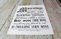 Princess Bride Inspired Typography Print.  by OurHobbyToYourHome, $10.00