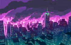 Wallpaper Anime, Promare, City, Night 2254x1440 Lego Wallpaper, City Wallpaper, Music Wallpaper, Scenery Wallpaper, 1080p Wallpaper, Walpapers Hd, Gurren Laggan, Burning City, Anime City