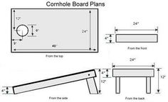 Very detailed directions for a light weight cornhole set