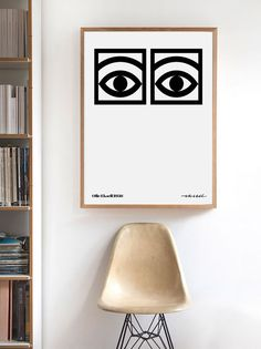 Olle Eksell ,Cocoa Eyes, Scandinavian Art Print, Modern Wall Art, Scandinavian Poster, Scandinavian Design, Scandinavian Artist Wall Print