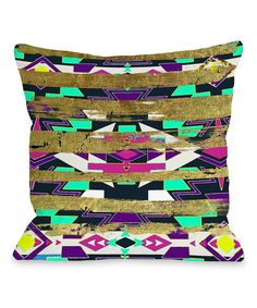 Look at this Tribal Neon Throw Pillow on #zulily today!