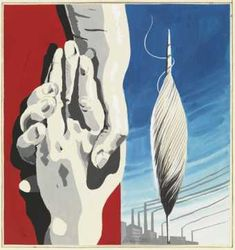 Rene Magritte - Draft poster for the textile workers of Belgique Central, 1938