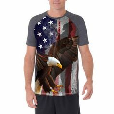Details about Faded Glory Men s Americana Sublimation Tee Shirt American  Eagle Patriotic S-3XL 12330666eed