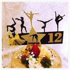 Gymnastics Cake Topper - Gymnastics Party Decorations - Gymnastics Party Decor - Gymnastics Centerpiece - Gymnastics Birthday Party Cake Top