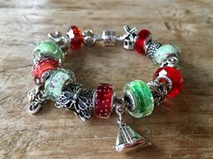 Ohm beads spring bracelet with Spring Refractions