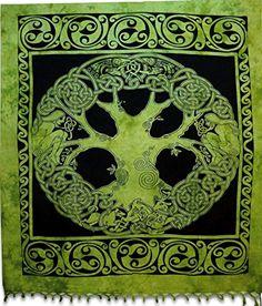 Celtic Green Tree Tapestry Indian Hippie Wall Hanging  Bohemian Bedspread Mandala Cotton Dorm Decor Beach blanket ModTradIndia >>> Amazon most trusted e-retailer  #Mandala