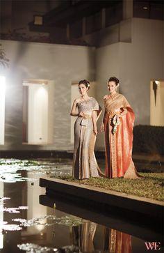 คู่มือเพื่อการวางแผนแต่งงานอย่างมีสไตล์ Thai Traditional Dress, Traditional Fashion, Traditional Outfits, Thai Brides, Thailand National Costume, Wedding Suits, Wedding Dresses, Thai Dress, Island Design