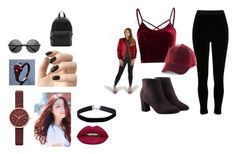 """""""Black n' Red"""" by missyhattermlp on Polyvore featuring River Island, Avon, Incoco, Skagen, madden NYC, The Left Bank, Huda Beauty, Miss Selfridge and French Connection"""