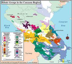 Caucasus Ethnic Map