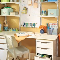 Add a magnetic strip that makes it easy to store your most-used craft supplies in a convenient place.