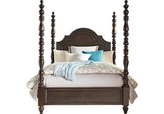 Westerleigh Oak 4 Pc King High Poster Bed . $799.99. 93L x 85W x 81H. Find affordable Beds for your home that will complement the rest of your furniture.
