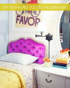 Neon pink purple bed