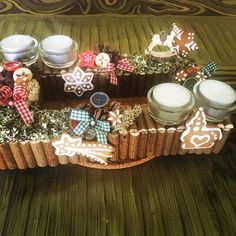 Gingerbread advent wreath