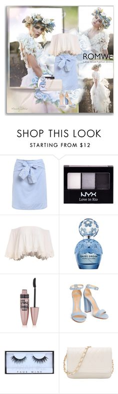 """ROMWE"" by shinee-pearly ❤ liked on Polyvore featuring NYX, Marc Jacobs, Maybelline and Huda Beauty"