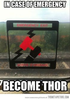 Remember, in case of emergency…