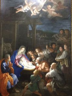 Adoration of the shepherds in the National Gallery - London
