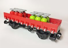 LEGO Train MOC cab car with gasoline