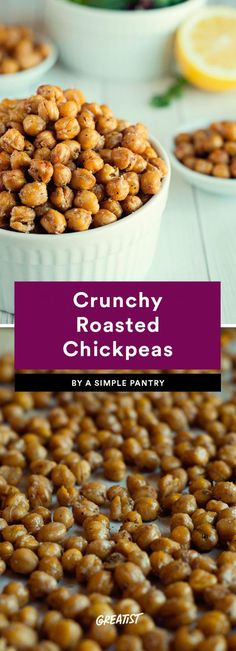 snack prep: Crunchy Roasted Chickpeas