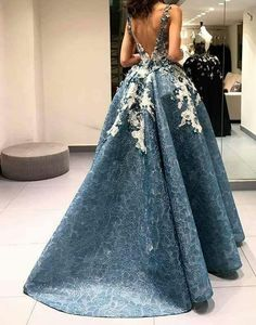 Cheap lace evening gown, Buy Quality evening gown directly from China party gown Suppliers: ZYLLGF Bridal Sexy Low Back Ball Gown Lace Evening Gown Floor Length Evening Dresses Women Party Gown With Flowers Women's Evening Dresses, Event Dresses, Prom Dresses, Formal Dresses, Cute Dresses, Beautiful Dresses, Short Dresses, Gorgeous Dress, African Traditional Dresses