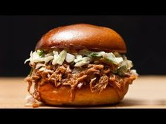 Pulled pork is easy to make and requires only a little prep time. In this video recipe, CHOW Associate Food Editor Christine Gallary uses our Easy Slow-Cooker Pulled Pork recipe to show you how you can have dinner cooking when you're still at work.    Check out the recipe at CHOW.com: http://www.chow.com/recipes/30356-easy-slow-cooker-pulled-pork  ...