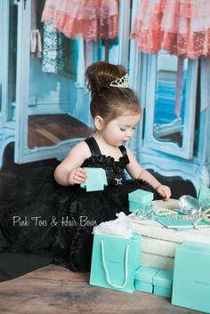 Audrey Hepburn  tutu dress Black flower girl by GlitterMeBaby, $80.00
