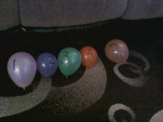 Number Sequencing Activity! Label balloons with numbers, throw them on the floor and order them.