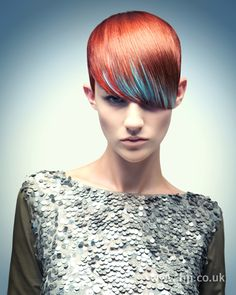 Sueng Ki Beak BHA Southern5 hairstyle    Hair was cut into a crop with a teardrop-shaped fringe left hanging over one eye.     Hairstyle by: Seung Ki Baek  Salon: Rush  Location: Epsom