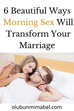 There are many amazing benefits of morning sex, and I'll share six of them with you: