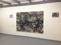 Untitled, July 2013, acrylic spray paint on canvas, 168 x 238 cm, picture taken in my studio at Rue des Voisins, Geneva