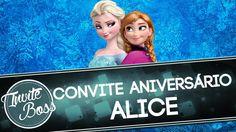 Convite Animado Aniversário (Frozen) - Alice