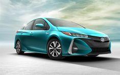 Download wallpapers Toyota Prius Prime, 4k, 2017 cars, new Prius, Toyota