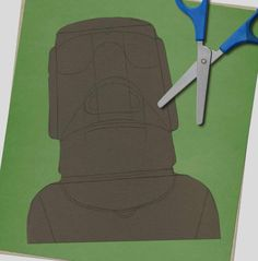 How to draw… Easter Island heads | Children's books | The Guardian Sharp Pencils, Deep Set Eyes, Book Sites, Easter Island, White Pencil, Eye Shapes, Pencil Illustration, Paper Texture, Big Picture